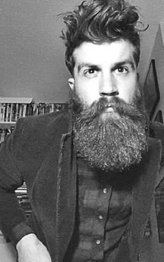 I usually don't like guys with beards. But this beard here on this guy is love