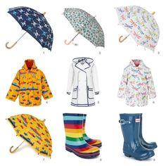 Cool Kids Rain Gear for those April showers.