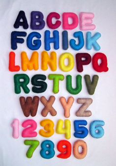 Felt Magnet Alphabet and Numbers - Felt Letters ,Felt Numbers , Colorful Alphabet , Educational Toy
