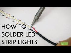 How to Solder LED Strip Lights TUTORIAL: Learn how to solder LED Strip Lights & circuit boards & pick up some helpful tips along with way. Led Garage Lights, Garage Lighting, Kitchen Lighting, Bathroom Lighting, Low Ceiling Lighting, Strip Lighting, Lighting Ideas, Led Diy, Led Light Strips