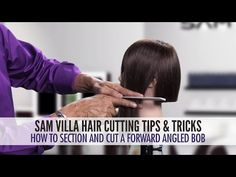 How To Section And Cut a Forward Angled Bob - YouTube