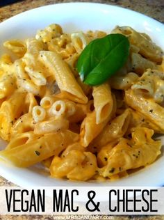 This vegan Mac & Cheese is so simple to put together - it takes no more than 20 minutes from start to finish! And the best part? It tastes just as good (if not better) than the versions made with dairy cheese, milk & butter. You MUST try this dish! Dairy Free Recipes, Veggie Recipes, Pasta Recipes, Vegetarian Recipes, Cooking Recipes, Healthy Recipes, Oven Recipes, Vegetarian Cooking, Cheese Recipes