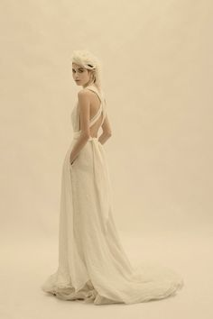 If i WERE doing a gown... it would be something like this... I love pockets!  Wedding dress by Cortana