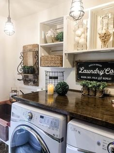 "Check out our site for even more information on ""laundry room stackable washer and dryer"". It is an outstanding location to read more. Laundry Room Shelves, Laundry Room Remodel, Farmhouse Laundry Room, Laundry Closet, Laundry Room Organization, Laundry Room Design, Laundry Rooms, Farmhouse Decor, Laundry Decor"