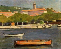 'L Estaque', huile de Albert MARQUET (1875-1947, France)