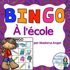 La rentrée!  Bingo game in French to practice back to school vocabulary!