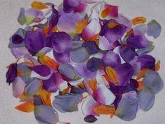 200 Silk Rose Petals Purple Lavender Lilac Orange Bright Green & Pink Wedding Flower Decorations Party Decorations Bridal