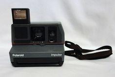 Vintage Polaroid 600 Impulse Pop Up Flash Instant Film Gray Camera  #Polaroid