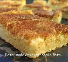 Home-made Snickerdoodle Cookie Bars! | The Baking ChocolaTess