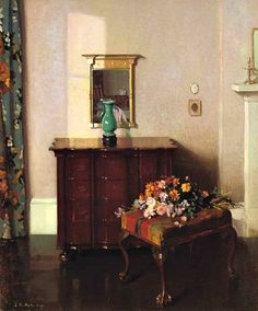 James Bell Anderson  Interior with a Green Vase  Early 20th century
