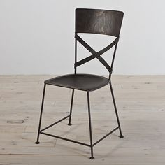 Carefully constructed of iron and featured in a unique zinc finish this Jabalpur dining chair would be a beautiful addition to your home. The dining chair has a cross back design and are stackable for your convenience.