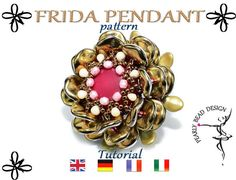 FRIDA pattern with ripple beads tutorial DIY by PearlyBeadDesign on Etsy