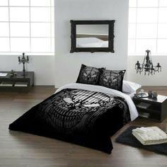 Skull bedding set