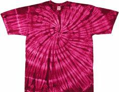 Raspberry Spiral tie dye t shirt