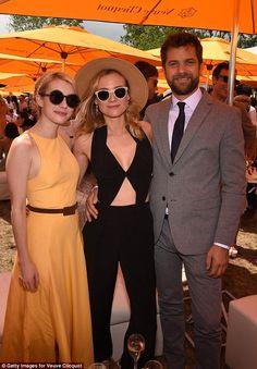 Famous friends: Emma snuggled up with stylish couple Diane Kruger and Joshua Jackson...