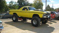 El Camino... I've always wanted an el Camino, and my boys want big tires .. this would be our happy medium