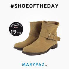 Nuestro #SHOEOFTHEDAY se lo dedicamos a nuestros botines de piel AHORA aprovéchate de las ÚLTIMAS TALLAS AW15 en TIENDA y ONLINE marypaz.com Compra ya en tu tienda MARYPAZ más cercana o en marypaz.com  #shoeoftheday #moda #cool #porquetelomereces #comprasfelices #rebajasmarypaz #ultimastallasaw15 #ultimastallas#shoponline   Compra ya este BOTÍN DE PIEL REBAJADO aquí ► http://www.marypaz.com/tienda-online/botin-con-hebilla.html?sku=72609-35