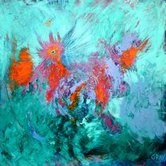 """Saatchi Online Artist: Gray Jacobik; Acrylic, 2012, Painting """"Argues the Aster Still"""""""