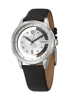 Shop for Stuhrling Original Women's Winchester Quartz Crystal Satin Twill Leather Strap Watch. Get free delivery On EVERYTHING* Overstock - Your Online Watches Store! Stainless Steel Polish, Stainless Steel Material, Stainless Steel Case, Best Watch Brands, Online Watch Store, Gifts For Wife, Cool Watches, Quartz Crystal, Swarovski Crystals