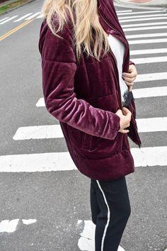 Fashion blogger, velvet, fall trend, style, jacket, target style, blonde