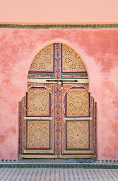 Oh how I miss you Morocco. Morocco, Marrakesh, Decorated Arched Door Stock Photos / Pictures / Photography / Royalty Free Images at Inmagine Oh The Places You'll Go, Places To Visit, Berber, Doorway, Islamic Art, Windows And Doors, Monuments, Beautiful Places, Around The Worlds