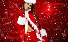 Fondos Mujer Santa Claus