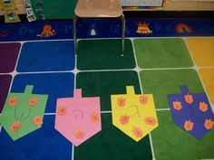 Chanukah- dreidel letter hunt and sorting