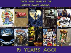 Highly popular games back in 2002: they're already 15 years old!
