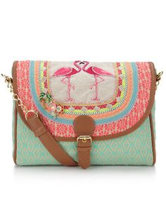 Sac à bandoulière motif flamant rose Tropicana | Multicolore | Accessorize