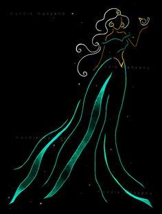 Disney Princess Jasmine - Silhouette - by Mandie Manzano