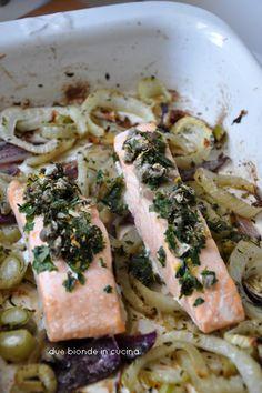 Due bionde in cucina: Salmone al forno con finocchi
