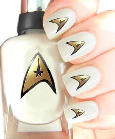 Star trek Art Decal stickers . despicable me Nail Art Wraps Easier to use than Slide off decals for Natural Acrylic and Gel Our nail art decals are different from any other, we use a special coated skin safe decal which has been printed white on the reverse using a special printer, so you can use on any coloured nail or nail varnish. Sharpe scissors will be needed to cut out the decals. Simply stick face down on your nail, then using a damp sponge just dab the decal backing sheet and it…