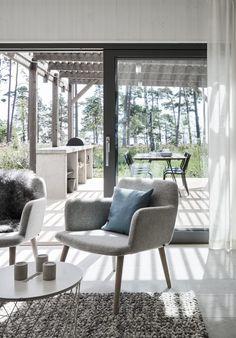 Villa Hagerman, Ljugarn – M. Tiny House, Villa, Building A Pergola, Rich Home, Pergola Patio, Cabin Homes, House Layouts, Interior Exterior, Scandinavian Interior