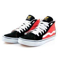 Tênis skate Hi Top Mad Rats Vermelho preto    R$129,00