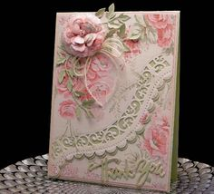 Victorian Rose Thank You (I mean, seriously, gorgeous, right?) Way to rock it Peggy! She printed the paper even! Yowzers.