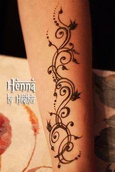 Elegant Henna - Swirls and Pomegranates - Henna by Heather Henna Hand Designs, Black Mehndi Designs, Henna Flower Designs, Mehndi Designs For Kids, Flower Henna, Beautiful Henna Designs, Simple Mehndi Designs, Henna Tattoo Designs, Tattoo Ideas