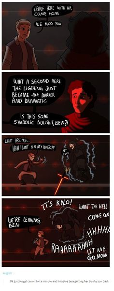 """All of the """"Leia drags her trashy son home"""" posts give me life. Star Wars Comics, Star Wars Humor, Star Wars Art, Star Trek, Dreamworks, Anakin Vader, The Force Is Strong, Star Wars Rebels, Last Jedi"""