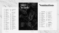 D&AD Awards Ceremony 2015 Type/Font design  Alex Thursby-Pelham