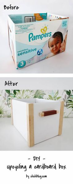 Take any basic cardboard box and turn it into chic storage with this simple DIY from OhOh Blog. You'll need basic DIY supplies that you can find at your local hardware store. Make these boxes…