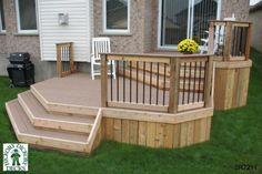 12 x 16 deck plans Two Level Deck, Deck Framing, Tiered Deck, Deck With Pergola, Pergola Ideas, Backyard Ideas, Garden Ideas, Backyard Seating, Metal Pergola