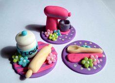 Toppers de cupcake de Fondant temática para hornear