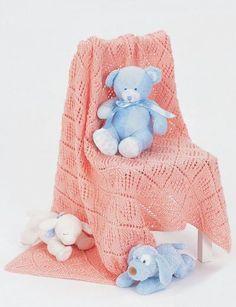 Pink Diamonds Baby Afghan