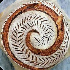 Sourdough Bread Starter, Sourdough Recipes, Artisan Bread Recipes, Baking Recipes, Bread Shaping, Bread Art, Our Daily Bread, Whole Grain Bread, Bread Rolls