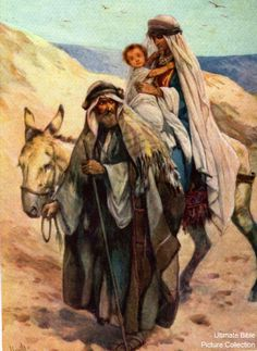 Matthew 2 Bible Pictures: Joseph, Mary, and Jesus return to Israel from Egypt. Christian Images, Christian Art, Joseph, Jesus E Maria, Bible Pictures, Mary And Jesus, Biblical Art, Holy Family, Blessed Mother