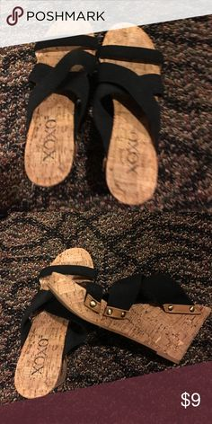 Sandals Black straps sandals XOXO Shoes Sandals