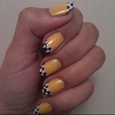 yellow cab!  #nail #nails #nailart