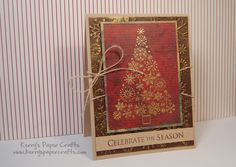 Gorgeous Christmas Card with gold embossing.