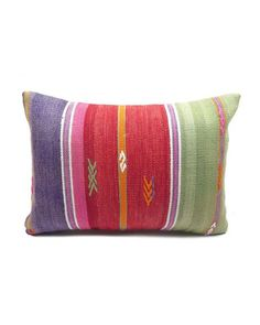 Bohemian Modern One of a kind Turkish Kilim Pillow