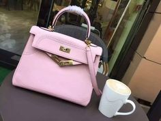 Free Shipping!2016 Hermes Outlet With Free Shipping-Hermes Kelly Bag 28CM in Sakura Pink Lace Swift Leather Gold