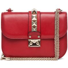 Valentino Lock Flap Bag in Red (55,520 THB) found on Polyvore